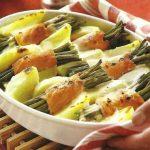 Kartoffel-Lachs-Auflauf mit grünen Bohnen