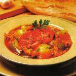 Kartoffel-Tomaten-Suppe mit Kabeljau