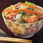 Bunter Reis mit Shrimps