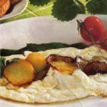 Eiweissomelett mit Kartoffeln und Spinat