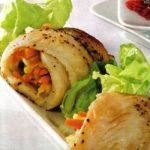 Fischröllchen mit Gemüse