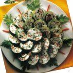 Frischkäse-Gemüse-Röllchen