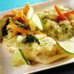 Gegrillter Fisch mit Ananas-Koriandersosse