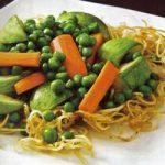 Gemüse mit gebratenen Tallarines