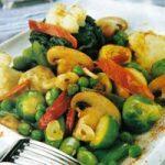 Gemüse-Schinken-Pilz-Salat