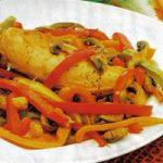 Hühnerbrust mit Paprika und Pilzen