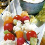 Kalte Gemüsespiesschen