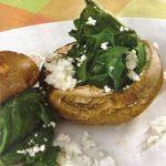 Portobello-Pilze mit Spinatfüllung