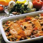 Putenschnitzel mit Gemüsewürfel