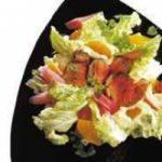 Salat mit Orange und Roastbeef