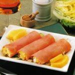 Schinken-Ananas-Röllchen