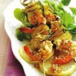 Shrimp-Zucchini-Spiesse