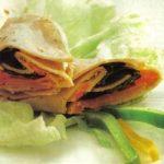 Wrap mit Putenschicken und Gemüse