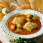 Aal in Tomaten-Mohrrüben-Soße
