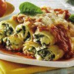 Canneloni mit Spinat und Ricotta