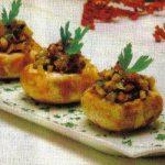 Gefüllte Champignons mit Knoblauch