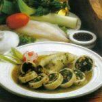Gefüllter Tintenfisch mit Spinat