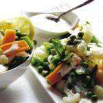 Gemüsemix mit Joghurtsoße