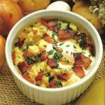 Eier in Kartoffelpüree