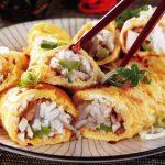 Eiröllchen mit Reis-Spargel-Füllung