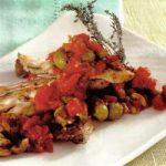 Fischfilet mit pikanter Tomaten-Oliven-Salsa