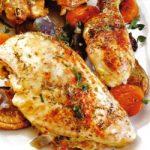 Hühnchen mit Gemüse aus dem Ofen