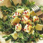 Rucola-Salat mit Parmesan und Mozzarella