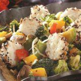Teriyaki-Gemüse mit Reisbällchen