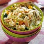 Warmer Reis-Gemüse-Salat